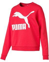 PUMA Classic Logo Crew Sweat - Red