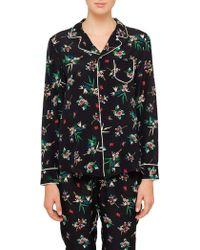 RED Valentino - Floral Print Pyjama Shirt - Lyst