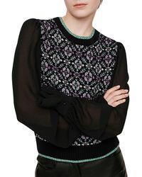 Maje Maely Knitwear - Black