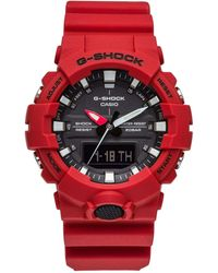 G-Shock - G Shock Duo Mid Size,blk Face, Red Resin Band - Lyst