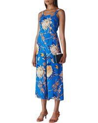 Whistles Exotic Floral Jumpsuit - Blue