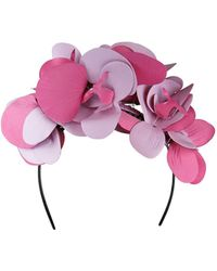 Morgan Taylor - Pu Orchid Like Flowers On Headband - Lyst