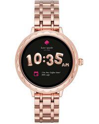 Kate Spade - Pink Ip Scallop Touchscreen Smartwatch - Lyst