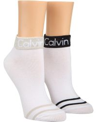 Calvin Klein - Zoey Coomax Anklet 2 Pack - Lyst