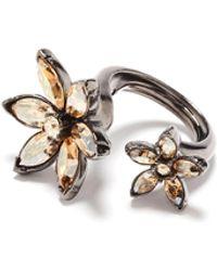 Oscar de la Renta Crystal Star Ring - Metallic