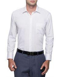 Van Heusen - Multi Scale Check Classic Fit Shirt - Lyst