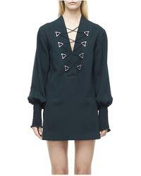 Dion Lee - Military Blouson Mini Dress - Lyst