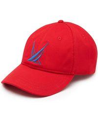 Nautica Blue Sail Big Logo Baseball Cap - Red