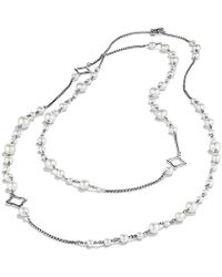 David Yurman - Bijoux Chain Necklace With Pearls - Lyst