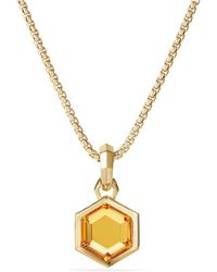 David Yurman - Cable Collectibles Hexagon Cut Amulet In 18k Gold - Lyst