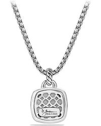 David Yurman - Albion Pendant With Blue Topaz And Diamonds, 14mm - Lyst