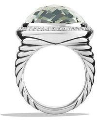 David Yurman - Oval Ring With Prasiolite And Diamonds - Lyst