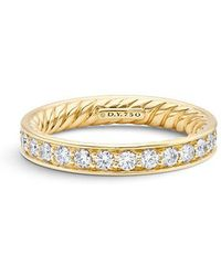 David Yurman | Dy Eden Eternity Wedding Band With Diamonds In 18k Gold, 3.3mm | Lyst