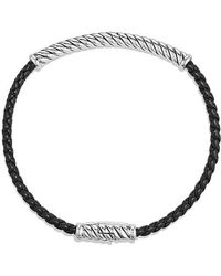 David Yurman - Cable Classic Leather Bracelet In Black - Lyst