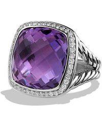 David Yurman - Albion® Ring With Amethyst And Diamonds, 17mm - Lyst