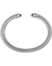 David Yurman - Cable Classics Bracelet With Amethyst And Diamonds, 5mm - Lyst