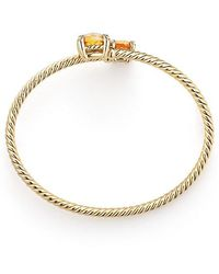 David Yurman - Chatelaine® Bypass Bracelet With Citrine And Diamonds In 18k Yellow Gold - Lyst