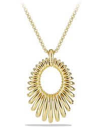 David Yurman | Tempo Pendant Necklace With Diamonds In 18k Gold | Lyst