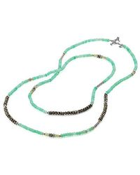David Yurman - Tweejoux® Bead Necklace In Chrysoprase, Pyrite, And Peridot With 18k Gold - Lyst