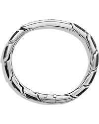 David Yurman | Forged Carbon Id Bracelet With Black Diamonds | Lyst