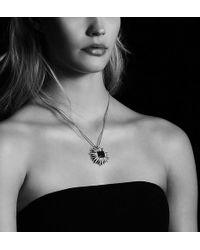 David Yurman - Starburst Pendant Necklace With Hampton Blue Topaz And Diamonds, 38mm - Lyst