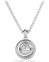 David Yurman | Crossover® Pearl Pendant Necklace With Diamonds | Lyst