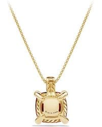 David Yurman - Châtelaine Pendant Necklace With Garnet And Diamonds In 18k Gold, 11mm - Lyst
