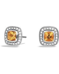 David Yurman - Petite Albion® Earrings With Citrine And Diamonds - Lyst