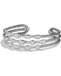 David Yurman - Confetti Narrow Cuff Bracelet With Diamonds, 16mm - Lyst