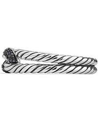 David Yurman - Petite Pave Loop Ring With Black Diamonds - Lyst