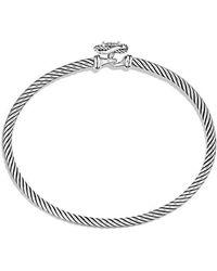 David Yurman - Infinity Bracelet With Diamonds - Lyst