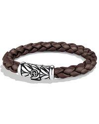 David Yurman - Chevron Rubber Weave Bracelet In Brown, 8mm - Lyst