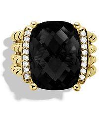 David Yurman | Wheaton Ring With Black Onyx And Diamonds In 18k Gold | Lyst