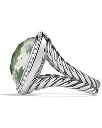 David Yurman - Albion® Ring With Prasiolite And Diamonds, 17mm - Lyst