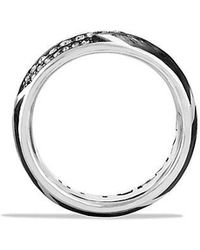 David Yurman | Forged Carbon Band Ring With Gray Sapphire | Lyst