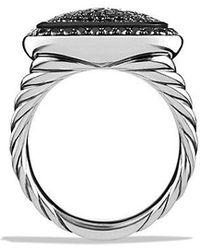 David Yurman - Albion Ring With Black Diamonds, 14mm - Lyst