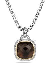 David Yurman - Albion® Pendant With Smoky Quartz, Diamonds And 18k Gold, 14mm - Lyst