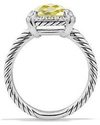 David Yurman - Chatelaine Pave Bezel Ring With Lemon Citrine And Diamonds, 9mm - Lyst