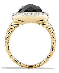 David Yurman - Albion® Ring With Black Onyx And Diamonds In 18k Gold - Lyst
