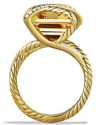 David Yurman - Cable Wrap Ring With Champagne Citrine And Diamonds In 18k Gold - Lyst