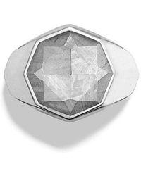 David Yurman - Meteorite Signet Ring - Lyst