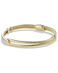 David Yurman - Petite Pavé Labyrinth Single-loop Bracelet In 18k Gold, 7mm - Lyst