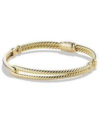 David Yurman | Petite Pavé Labyrinth Single-loop Bracelet In 18k Gold, 7mm | Lyst