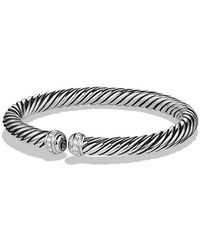 David Yurman - Cable Spira Bracelet With Diamonds, 7mm - Lyst