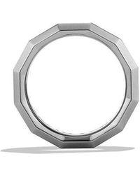 David Yurman - Dy Delaunay Band Ring In Gray Titanium, 7.5mm - Lyst