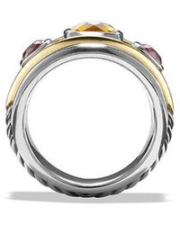 David Yurman - Renaissance Ring With Citrine, Rhodalite Garnet And 14k Gold - Lyst