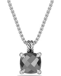 David Yurman - Châtelaine Pendant Necklace With Hematine And Diamonds, 11mm - Lyst