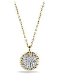 David Yurman | Cable Collectibles Pavé Charm Necklace With Diamonds In 18k Gold | Lyst
