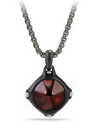 David Yurman - Anvil Amulet With Hessonite Garnet - Lyst