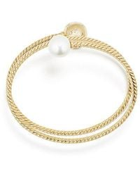 David Yurman - Solari Coil Bracelet With Pearls And Diamonds In 18k Gold - Lyst
